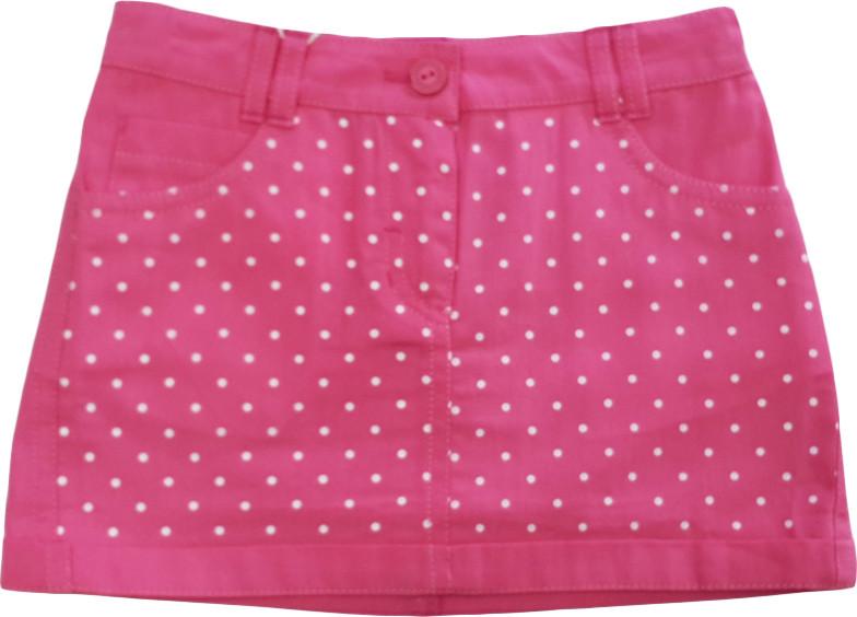 Юбка летняя коттоновая розовая размер 116 134 ЮБ67