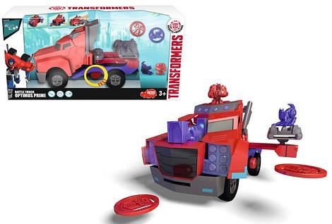 Боевой трейлер Optimus Prime из серии Трансформеры, со светом и звуком, 23 см Dickie Toys