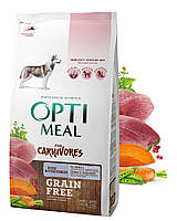 Беззерновой сухой корм Optimeal для взрослых собак всех пород - утка и овощи, 1,5кг