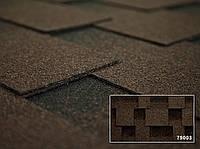 Битумная черепица Kerabit (Керабит) Квадро Спелый каштан Classic (коричнево-черная)