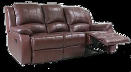 Сучасний шкіряний диван з реклайнером - L. A