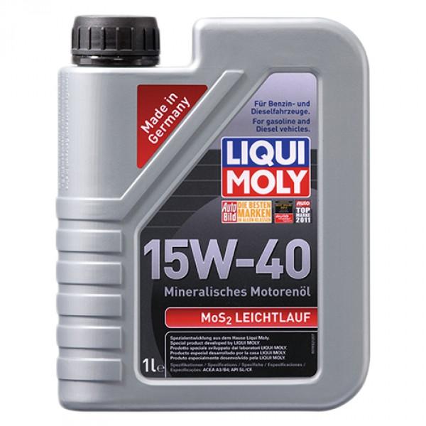 Минеральное моторное масло Liqui Moly MoS2 Leichtlauf SAE 15W-40