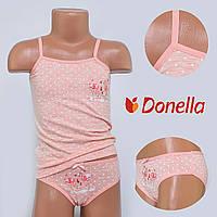 Детский комплект нижнего белья майка+трусики Donella, Турция. Donella 43294TK-1 0/1-R. Размер на 0-1 годик.