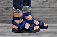 Мужские босоножки New Balance синие с черным