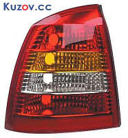 Фонарь задний Opel Astra G седан 98-09 левый (Depo) красно-дымчатый 1222077