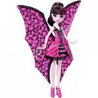 Кукла Монстер Хай Дракулаура Летучая мышь с платьем трансформером, фото 1