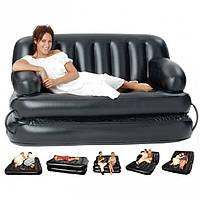 Надувной раскладной диван-кровать, трансформер 75056 Bestway (188x152x64см) с насосом