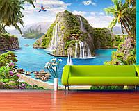 """Печать панорамных обоев под заказ """"Тропический остров"""""""