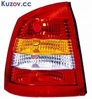 Фонарь задний для Opel Astra G седан '98-09 левый (DEPO) красно-белый 442-1934L-UE
