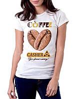 Футболка женская брендированная CASHER