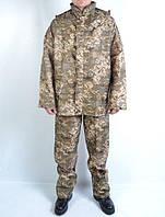 Камуфлированный водоотталкивающий костюм - дождевик Пиксель