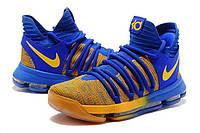 Баскетбольные кроссовки Nike KD 10 blue-yellow, фото 1