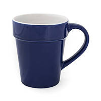 Керамическая чашка ALBANA Синяя под нанесение логотипа, чашка с логотипом