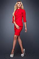 Стильный красный костюм Полли  Jadone  42-48  размеры