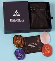 """Подарочный набор из четырех рунических амулетов ТМ Briareus - """"Бизнес и финансовый успех"""""""