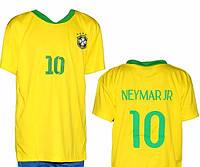 """Детская (5-10 лет) футбольная форма """" Неймар '' - сборной Бразилии (2014) - желто-синяя, домашняя"""