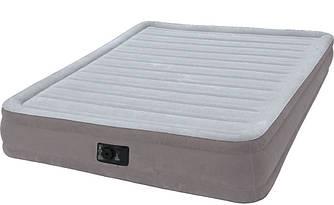 Надувная велюр-кровать Intex со встроенным электрическим насосом 191х137х33 см (67768)