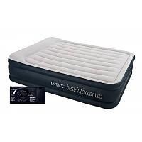 Надувная велюр-кровать Intex 64136 с встроенным электронасосом 220 В