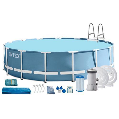 Бассейн каркасный 457х122 см Intex 26726 с комплектом аксессуаров