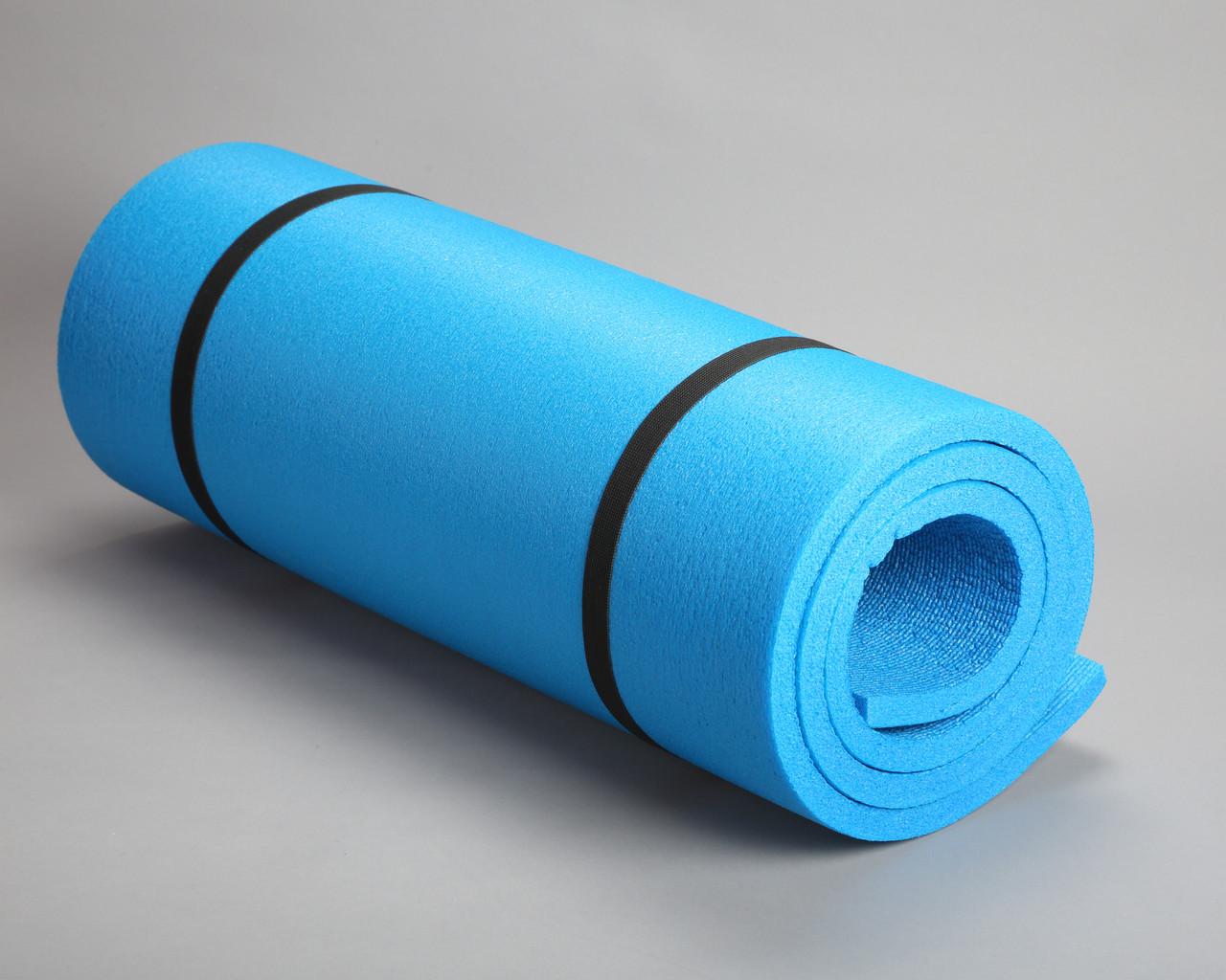 Каремат для йоги однослойный синий 1,8*0,6м