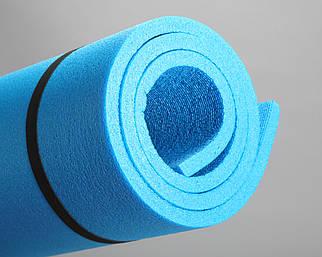 Коврик для туризма синий 1,8*0,6м, с односторонним рифлением