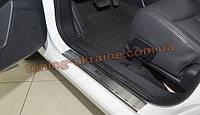 Накладки на пороги NataNiko Premium на MG (MORRIS GARAGES) 350 2012