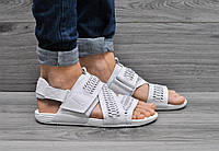 Кожаные мужские сандали Nike белые