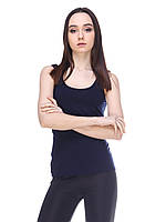 Майка женская спортивная, темно синяя