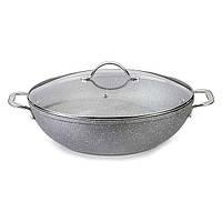 Сковорода вок с крышкой Fissman MOON STONE 28 см AL-4411.28
