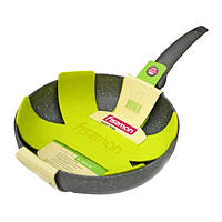 Сковорода без крышки глубокая Fissman GREY STONE 26 см AL-4974.26