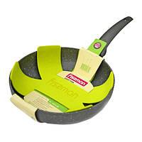Сковорода без крышки глубокая Fissman GREY STONE 28 см AL-4975.28