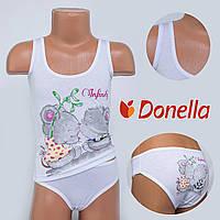Детский комплект нижнего белья майка+трусики Donella, Турция. Donella D43113XBTF 0/1. Размер на 0-1 годик.