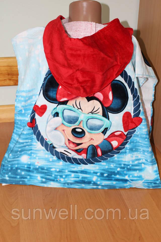 детское пляжное полотенце пончо оптом, Barbie, Барби