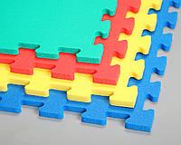Игровые цветные пазлы для детских комнат 12мм, цвет желтый