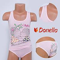 Детский комплект нижнего белья майка+трусики Donella, Турция. Donella D43113XBTF-1 0/1-R. Размер на 0-1 годик.