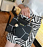 Каркасна сумка з ручками у формі котика і мозаїкою, фото 3