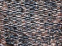 Плащевая ткань Мемори стеганая на синтепоне подложкой на трикотаже с резинкой Коричнево Черный принт