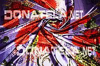 Натуральный шелк натуральний шовк принт цветы