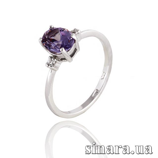 Серебряное кольцо с александритом картинка
