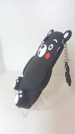Силиконовый чехол для iPhone 6/6s черный медведь, фото 2