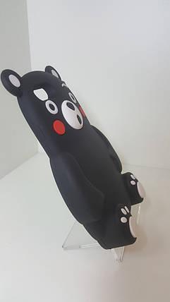 Силиконовый чехол для iPhone 6plus /6s plus черный медведь, фото 2