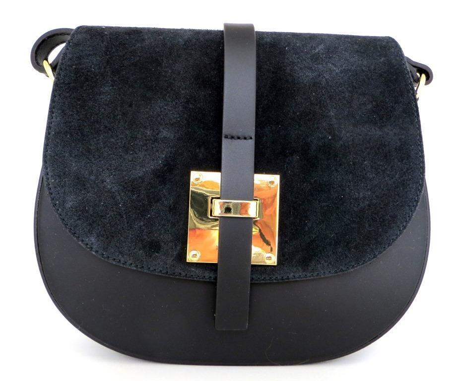 Жіноча маленька сумочка  . Італія 100% натуральна шкіра . Чорна, фото 1