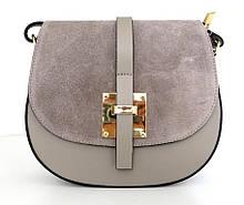 Жіноча маленька сумочка  . Італія 100% натуральна шкіра . Сіра