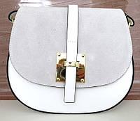 Жіноча маленька сумочка  . Італія 100% натуральна шкіра . Біла, фото 1