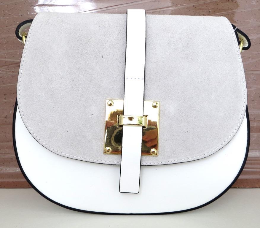 Жіноча маленька сумочка  . Італія 100% натуральна шкіра . Біла