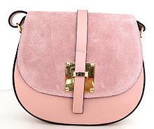 Жіноча маленька сумочка  . Італія 100% натуральна шкіра . Рожева