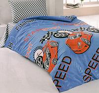 Комплект постельного белья для детей Eponj Home Jet Araba Mavi , ранфорс