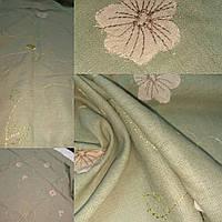 Лен с вышивкой набор 7, 113смХ114 см + 40Х80 см