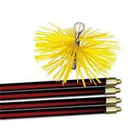 Набор для чистки дымохода: щетка и гибкие ручки для щетки, фото 1