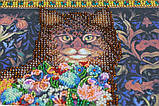 Набор для вышивки бисером на холсте «Сказка про кота», фото 6